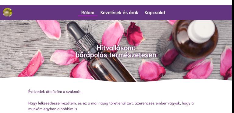 Weboldal referenciák - charmekozmetika.hu II