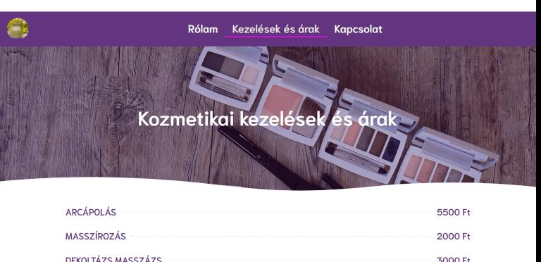 Weboldal referenciák - charmekozmetika.hu