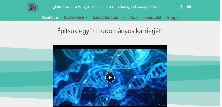 Weboldal referenciák - tudomanymetria.hu III