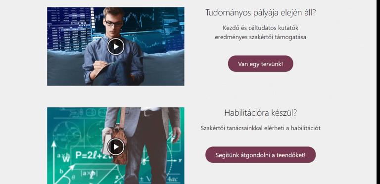 Weboldal referenciák - tudomanymetria.hu II